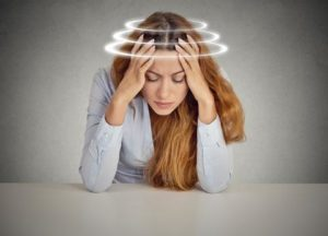 dizziness/vertigo after a motor vehicle accident